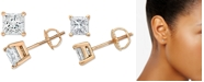 Macy's Diamond Stud Earrings (1/5 ct. t.w.) in 10k Gold, White Gold or Rose Gold