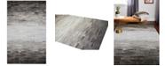 """BB Rugs Cowhide HID-5 Grey 2'6"""" x 8' Runner Area Rug"""
