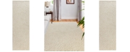 "BB Rugs Loop LOP-140 Ivory 2'6"" x 8' Runner Area Rug"