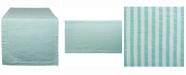"""Design Imports Aqua Seersucker Table Runner 14"""" X 72"""""""