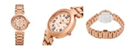 Stuhrling Alexander Watch A203B-05, Ladies Quartz Date Watch with Rose Gold Tone Stainless Steel Case on Rose Gold Tone Stainless Steel Bracelet