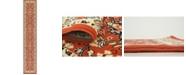 """Bridgeport Home Arnav Arn1 Terracotta 3' x 16' 5"""" Runner Area Rug"""