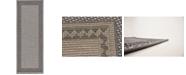 "Bridgeport Home Pashio Pas6 Gray 2' 2"" x 6' Runner Area Rug"