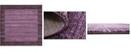 Bridgeport Home Lyon Lyo4 Violet 8' x 8' Square Area Rug