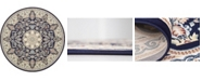 Bridgeport Home Zara Zar5 Navy Blue 10' x 10' Round Area Rug
