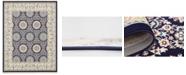 Bridgeport Home Zara Zar8 Navy Blue 8' x 10' Area Rug