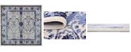Bridgeport Home Aldrose Ald6 Blue 6' x 6' Square Area Rug