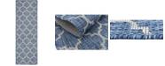 Bridgeport Home Pashio Pas5 Navy Blue 2' x 6' Runner Area Rug