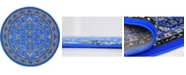 Bridgeport Home Arnav Arn1 Blue 8' x 8' Round Area Rug