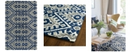 Kaleen Global Inspirations GLB01-17 Blue 2' x 3' Area Rug