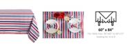 "Design Imports Patriotic Stripe Outdoor Tablecloth 60"" x 84"""