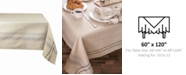 """Design Imports French Stripe Tablecloth 60"""" x 120"""""""