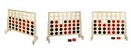 Hathaway Quattro 4 in A Row Board Game with Solid Pinewood Frame