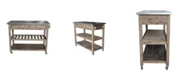 Boraam Sonoma Collection Kitchen Cart with Stainless Steel Top