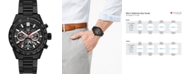 TAG Heuer Men's Swiss Automatic Chronograph Carrera Black Ceramic Bracelet Watch 45mm