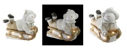 """Northlight 15.5"""" Battery Operated LED Lit Snowman Sleigh Christmas Table Top Decoration"""