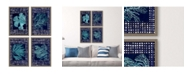 """Paragon Picture Gallery Paragon Sea Garden Framed Wall Art Set of 4, 25"""" x 17"""""""