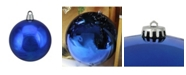 "Northlight Shiny Lavish Blue Shatterproof Christmas Ball Ornament 12"" 300mm"