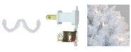 Northlight 9' Pre-lit Flocked Snow White Artificial Christmas Garland - Clear Lights