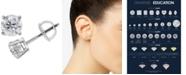 Macy's Diamond Stud Earrings (1-1/4 ct. t.w.) in 14k White Gold