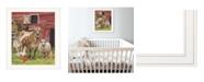 "Trendy Decor 4U Barnyardigans by Bonnie Mohr, Ready to hang Framed Print, White Frame, 15"" x 19"""