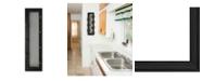 "Trendy Decor 4U 7-Peg Mug Rack by Millwork Engineering, Black Frame, 8"" x 27"""