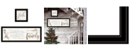 "Trendy Decor 4U We are Family 2-Piece Vignette by Marla Rae, Black Frame, 39"" x 15"""