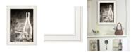 "Trendy Decor 4U Moody Gray Glassware Still Life by Bluebird Barn, Ready to hang Framed Print, White Frame, 15"" x 19"""