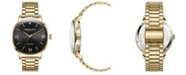 Kenneth Cole New York Men's Gold-Tone Stainless Steel Bracelet Watch, 42mm
