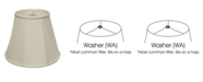 Macy's Cloth&Wire Slant Deep Empire Softback Lampshade with Washer Fitter