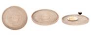 Artifacts Trading Company Rattan Round Tray Collection