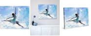 Creative Gallery Grande Jete Ballerina in Blue Abstract Collection