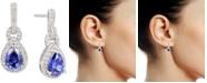 Macy's Tanzanite (1-1/4 ct. t.w.) & Diamond (1/3 ct. t.w.) Drop Earrings in 14k White Gold