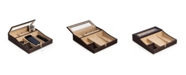 Bey-Berk Valet Tray with Multi-Compartment Storage