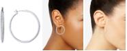 """Givenchy Medium Pavé Hoop Earrings 1-1/4"""""""