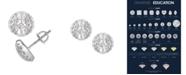 Macy's Certified Diamond 1/2 ct. t.w. Earrings in 14k White Gold