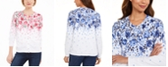 Karen Scott Cascade-Print Cardigan, Created for Macy's