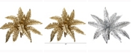 Nearly Natural 18in. Metallic Boston Fern Artificial Plant Set of 12