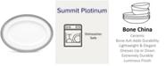 "Noritake Summit Platinum Oval Platter, 12"""
