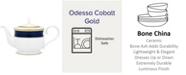Noritake Odessa Cobalt Gold Tea Pot, 43 Oz.
