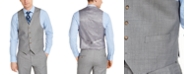 Lauren Ralph Lauren Men's Classic-Fit UltraFlex Stretch Light Gray Sharkskin Suit Vest