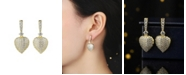 A&M Gold-Tone Heart Drop Earrings