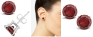 Macy's Garnet (3-1/5 ct. t.w.) Stud Earrings in Sterling Silver (Also Available in White Topaz and Citrine)