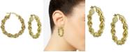 """Argento Vivo Medium (1-1/4"""") Rope Hoop Earrings in 18k Gold-Plated Hoop Earrings"""