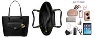 Michael Kors Jet Set Medium Leather Pocket Tote