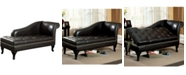 Furniture of America Yannez Upholstered Storage Chaise