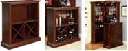 Furniture of America Milina Solid Wood Bar Table