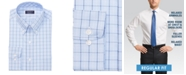 Club Room Men's Classic/Regular Fit Stretch Double Tattersall Dress Shirt, Created for Macy's