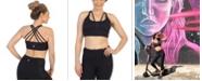 American Fitness Couture Medium Support Multi Cross Strap Sports Bra