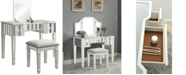Furniture of America Boise Lift-Top Mirror Vanity Set